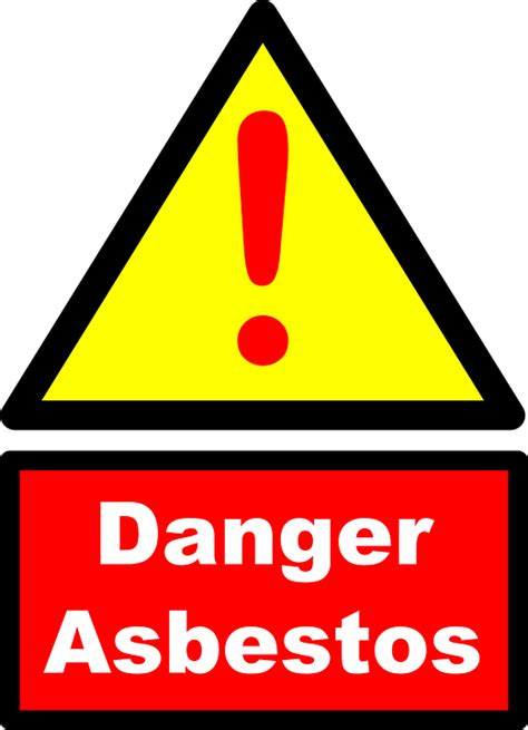 vector graphic asbestos danger warning