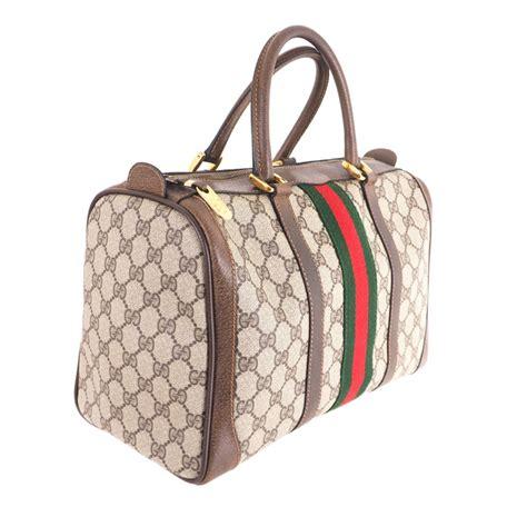 vintage gucci excellent condition monogram speedy hand bag nina furfur vintage boutique