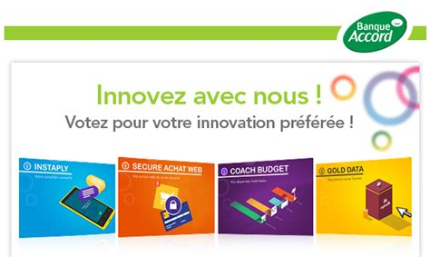 votez pour l innovation banque accord 2014