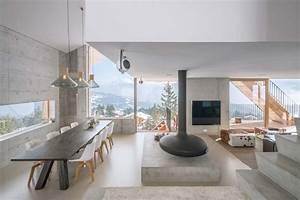 un minimaliste et eclectique design interieur pour ce With photo interieur chalet montagne