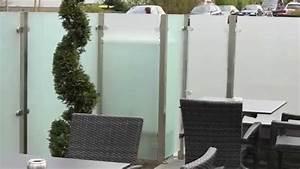 glas windschutz mit sichtschutz glas youtube With whirlpool garten mit balkon glas