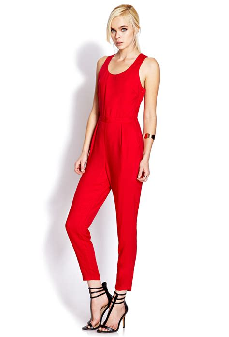 jumpsuit forever 21 forever 21 posh jumpsuit in lyst