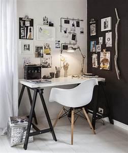 30 idees pour decorer un bureau avec un style scandinave With idee deco cuisine avec mobilier bureau scandinave