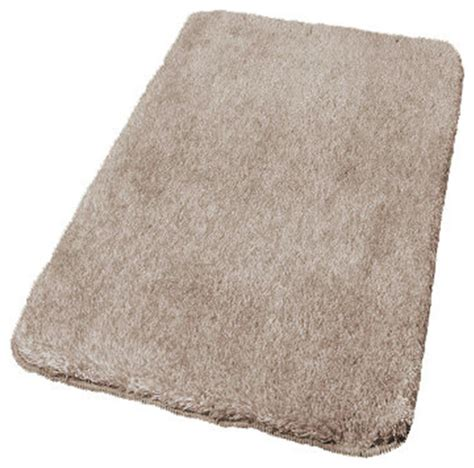 Taupe Contemporary Non Slip Bathroom Rugs, Relax, Extra