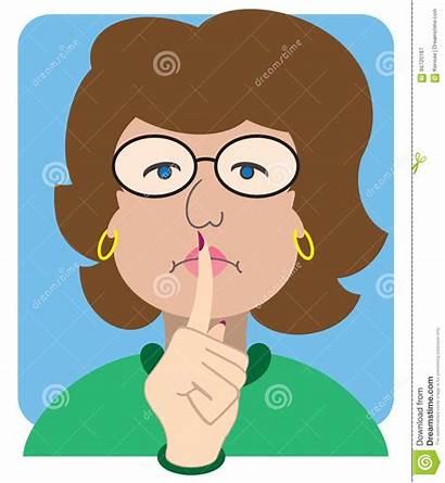 Librarian Cartoon Vector Silence Flat Stern Finger