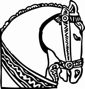Easy Drawings Of Horses Heads - ClipArt Best