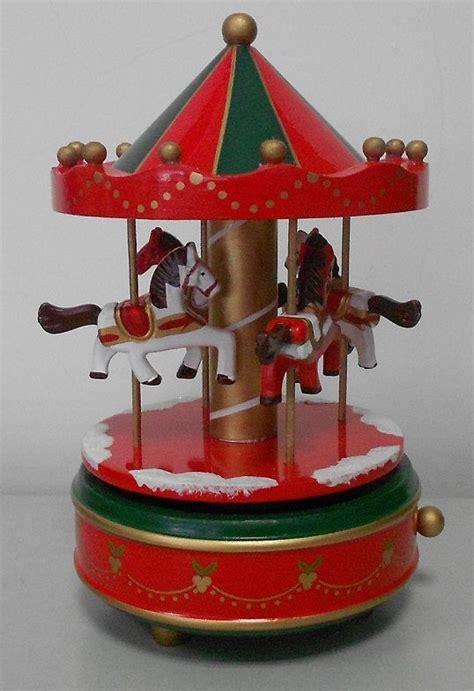 hot sale high quality wooden mechanical carousel  box