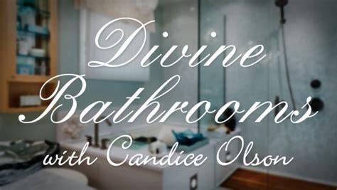 divine bathrooms  candice olson hgtv