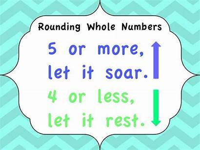 Rounding Numbers Whole Math Round Rules Maths