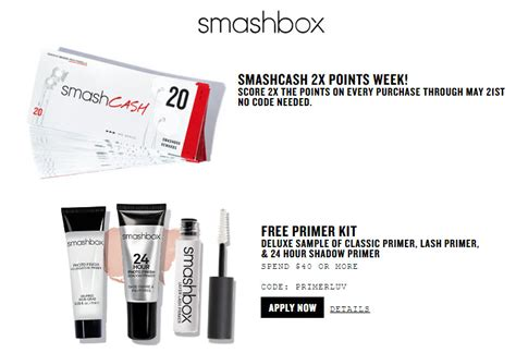 Free Smashbox Gift Birthday