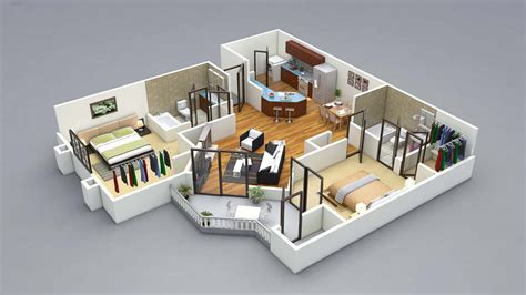 3d home interior design free 13 awesome 3d house plan ideas that give a stylish