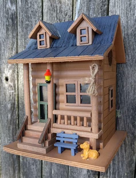 hatchling series log cabin birdhouse