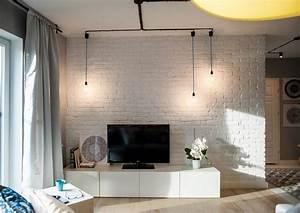 Brique De Parement Blanche : parement mural salon et peinture artistique en 80 id es d co ~ Dailycaller-alerts.com Idées de Décoration