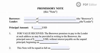 Promissory Note Template Pdf Printable Form Notes