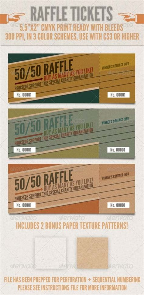 Raffle Ticket Printing Template by Miscellaneous Graphicriver Raffle Tickets Graphicflux