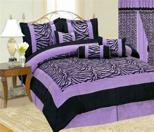 Purple zebra bedding will bring royalty to your bedroom for Zebra bedroom furniture sets