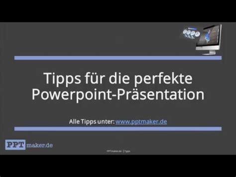 tipps fuer die perfekte powerpoint praesentation youtube