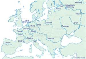 Major Rivers Europe Map