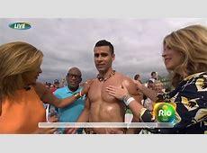 Tonga athlete Pita Taufatofua oiled up by three NBC hosts