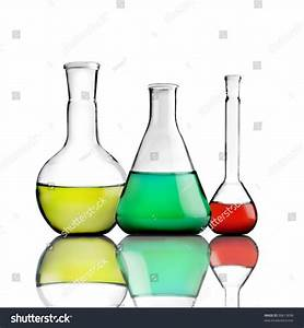 Science Lab Bottles Colored Liquids Inside Stock Photo ...