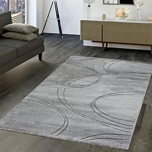 Teppich Wohnzimmer Grau : moderner teppich wohnzimmer kurzflor teppich konturenschnitt in uni grau ebay ~ Markanthonyermac.com Haus und Dekorationen