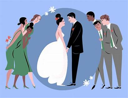 Bridal Reception Friends Don Weddings Happy Couple