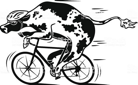 Racing Bike Cow Stock Vector Art & More Images Of Animal