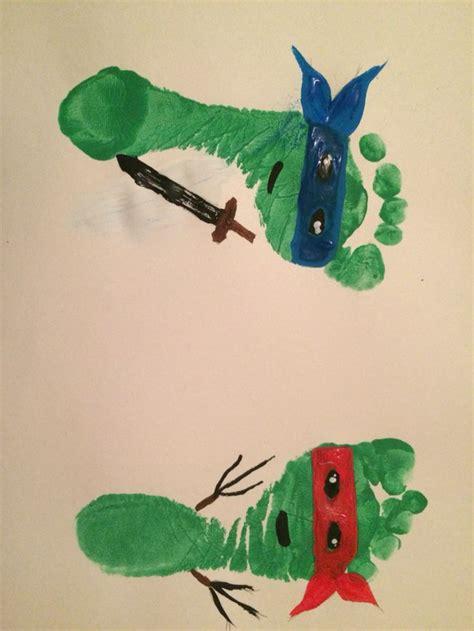 ninja turtle footprints  projects pinterest