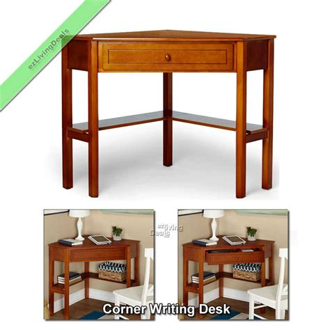 Small Wood Desk by Corner Writing Desk Laptop Computer Table Home Office