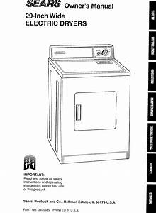 Kenmore 11066101690 User Manual Electric Dryer Manuals And