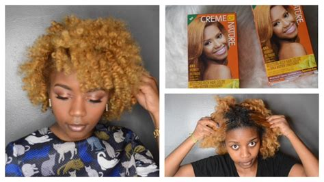 Black To Blonde Natural Hair Creme Of Nature Hair Color