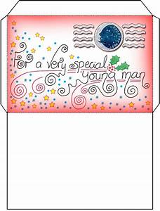 father christmas santa letter envelope for a boy With christmas letter envelopes