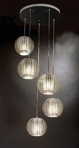 Trend Lighting Five Light Satin Silver Clear Acrylic Shade