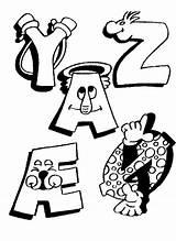 Alphabet Letters Coloring Funny Printable Educational Alphabets Kleurplaten Alfabet Sheets Letter Coloriage Grappige Education Alphabeth Kleurplaat Chiffres Coloriages Gratis Imprimer sketch template