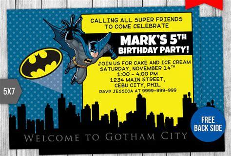 batman invitation designs  vector eps ai