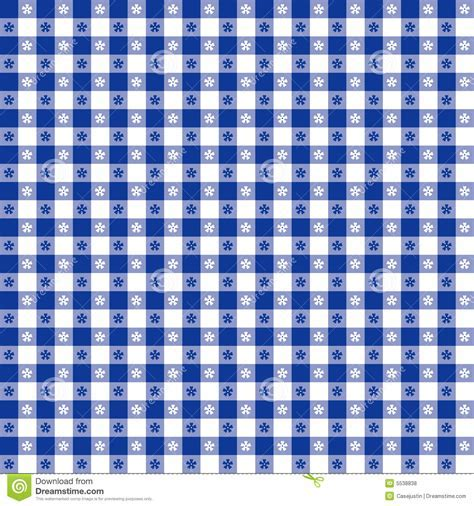 Blue Tablecloth Seamless Pattern Royalty Free Stock Photos