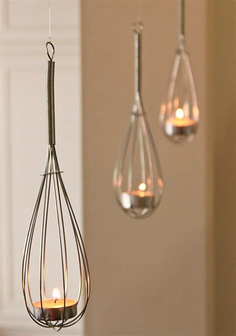 Hanging Candle Holders by Diy Hanging Whisk Tea Light Candle Holder Votive Decor