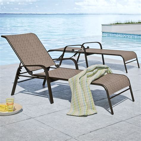 Patio Loungers On Sale by Corliving Steel Mesh Reclining Patio Chaise Lounge Set