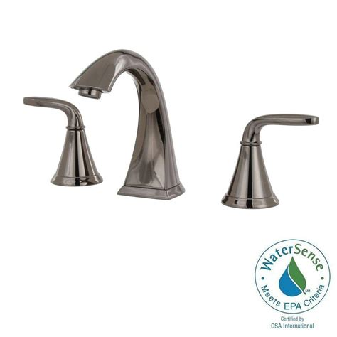 Pfister Pasadena Faucet Midnight Chrome pfister pasadena 8 in widespread 2 handle high arc
