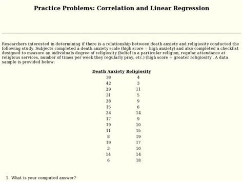 Linear Regression And Correlation Coefficient Worksheet Breadandhearth