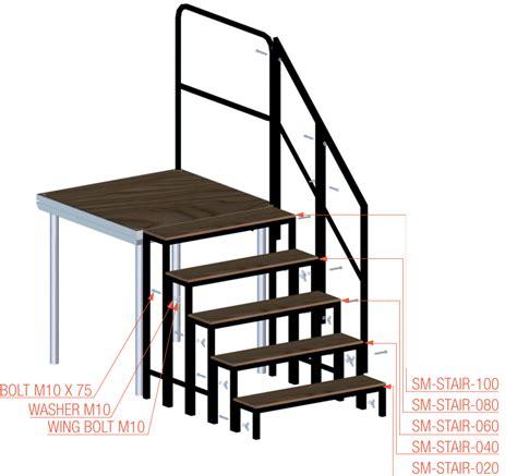 escalier escamotable largeur 80 cm prolyte marche d escalier modulable pour sc 232 ne en praticable 233 l 233 ment de 80cm neuf jsfrance