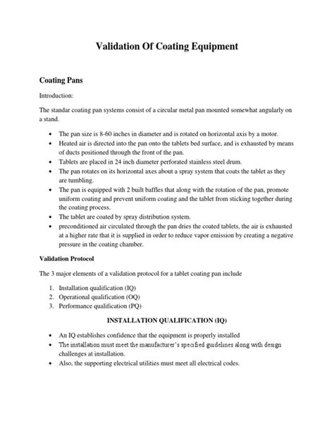 Validation of Coating Equipment (Ketik Ulang
