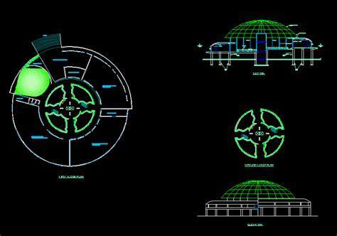 Interpretation Center 2D DWG Design Section for AutoCAD