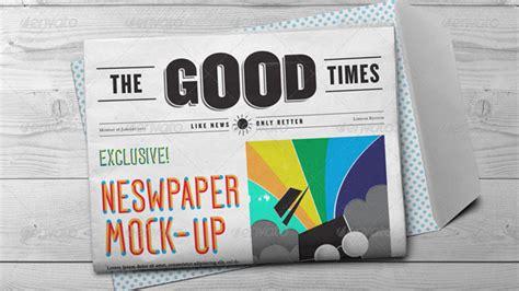 newspaper mockup psd designed templates