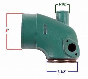 Elbow Exhaust Marine Volvo Penta Diesel Tamd 41 42 43 44 861289