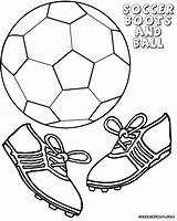 Ball Soccer Coloring Soccerball Colorings sketch template