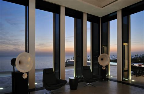 house with large windows striking oceanfront house in jbeil lebanon