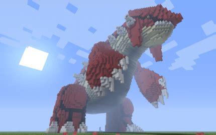 giant  pixel art groudon creation