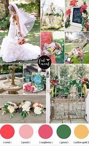 Garden Wedding Ideas,Coral and Raspberry Wedding