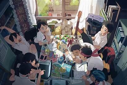 Anime Study Studen Friends Japanese